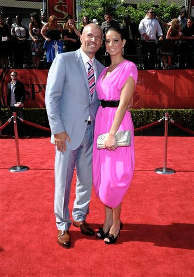 Dallas Mavericks Jason Kidd arrives with a guest at the ESPY awards on Wednesday, July 13, 2011, in Los Angeles. (AP Photo/Dan Steinberg) Photo: Associated Press