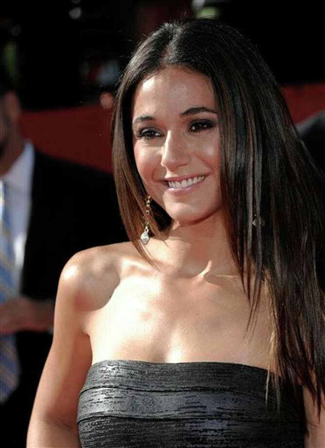 Actress Emmanuelle Chriqui arrives at the ESPY awards on Wednesday, July 13, 2011, in Los Angeles. (AP Photo/Dan Steinberg) Photo: Associated Press