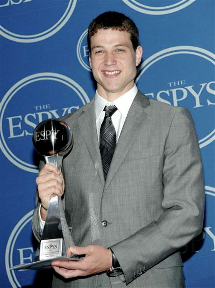 Brigham Young University basketball player Jimmer Fredette poses backstage after winning the award for Best Male College Athlete at the ESPY awards on Wednesday, July 13, 2011, in Los Angeles. (AP Photo/Dan Steinberg) Photo: Associated Press