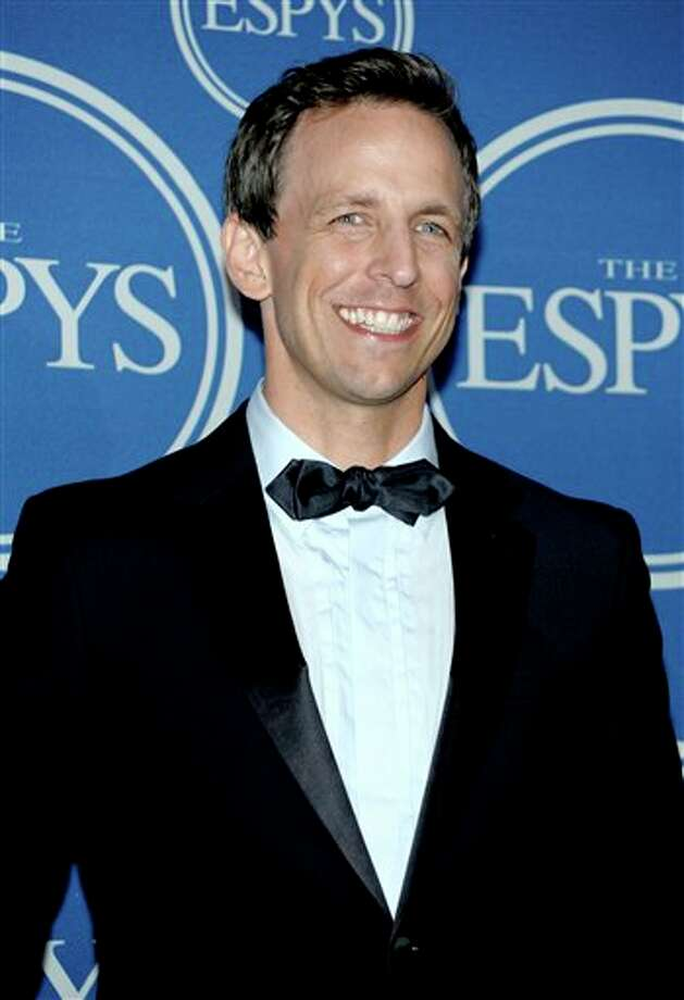 Host Seth Meyers is seen backstage at the ESPY awards on Wednesday, July 13, 2011, in Los Angeles. (AP Photo/Dan Steinberg) Photo: Associated Press