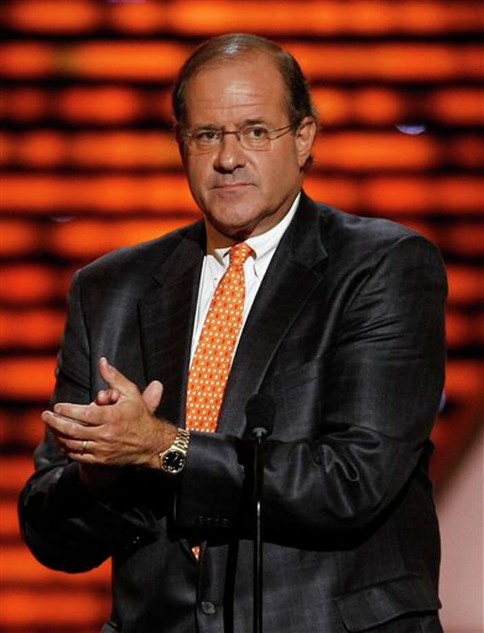 Chris Berman presents the award for Military Recognition at the ESPY Awards on Wednesday, July 13, 2011, in Los Angeles. (AP Photo/Matt Sayles) Photo: Associated Press