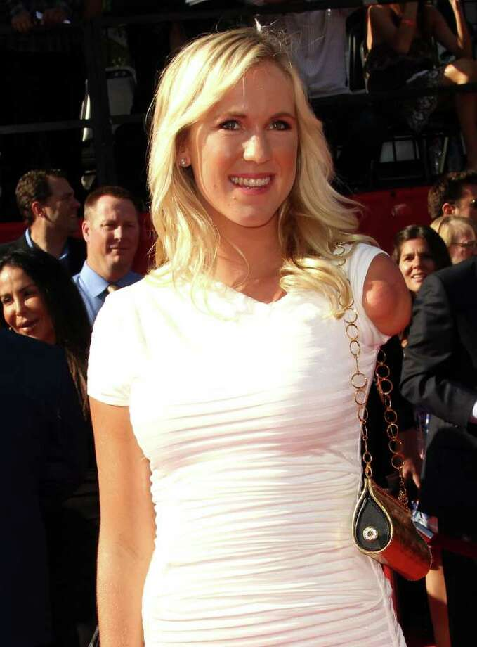 LOS ANGELES, CA - JULY 13:  Surfer Bethany Hamilton arrives at The 2011 ESPY Awards at Nokia Theatre L.A. Live on July 13, 2011 in Los Angeles, California. Photo: Frederick M. Brown, Getty Images / 2011 Getty Images