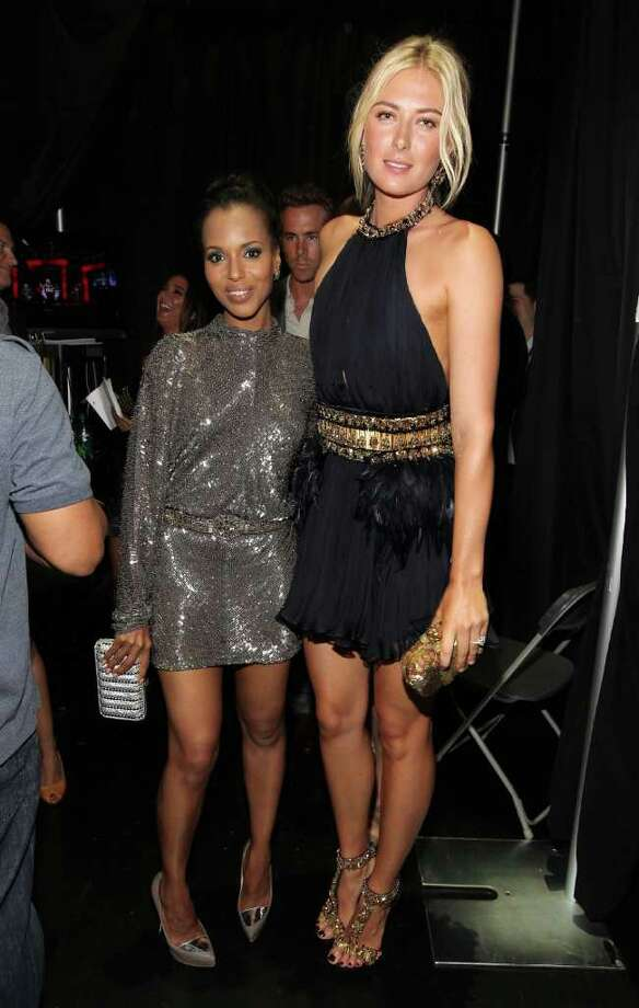LOS ANGELES, CA - JULY 13:  Actress Kerry Washington and tennis player Maria Sharapova pose backstage at The 2011 ESPY Awards at Nokia Theatre L.A. Live on July 13, 2011 in Los Angeles, California. Photo: Christopher Polk, Getty Images For ESPN / 2011 Getty Images
