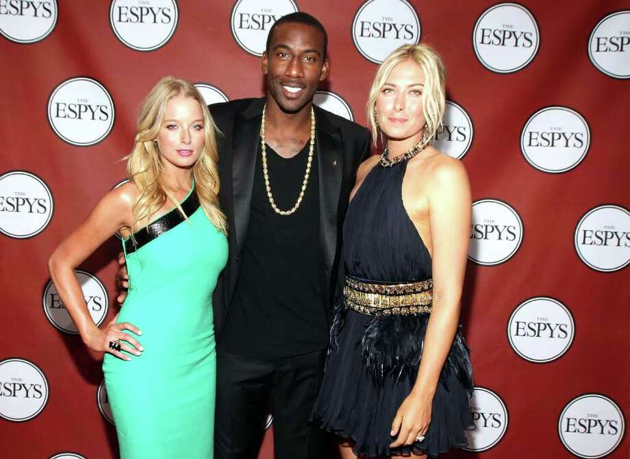 LOS ANGELES, CA - JULY 13:  (L-R) Actress Rachel Nichols, NBA player Amare Stoudemire and professional tennis player Maria Sharapova attend The 2011 ESPY Awards at Nokia Theatre L.A. Live on July 13, 2011 in Los Angeles, California. Photo: Christopher Polk, Getty Images For ESPN / 2011 Getty Images
