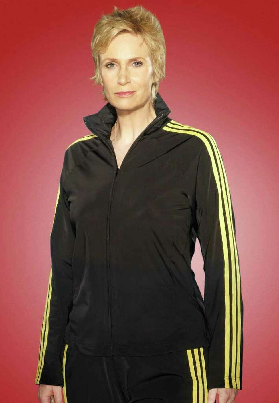 Jane Lynch plays Sue Sylvester on