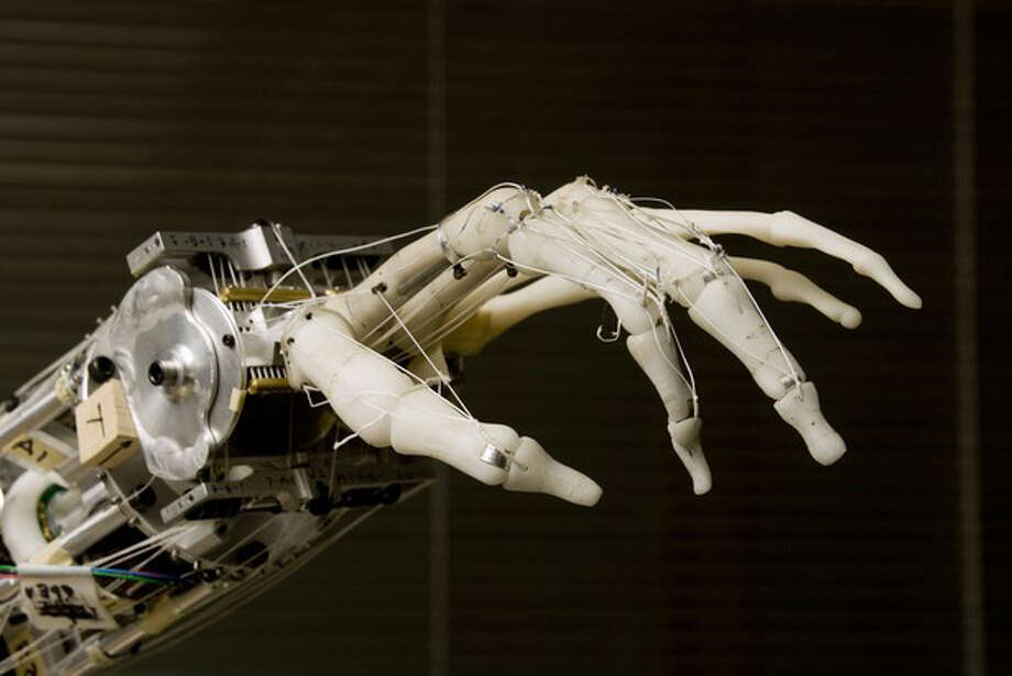 The Neurobotics Lab's prosthetic hand is a close replica of an actual human hand. UW researchers are working to integrate it with the human nervous system. Photo: University Of Washington / University of Washington