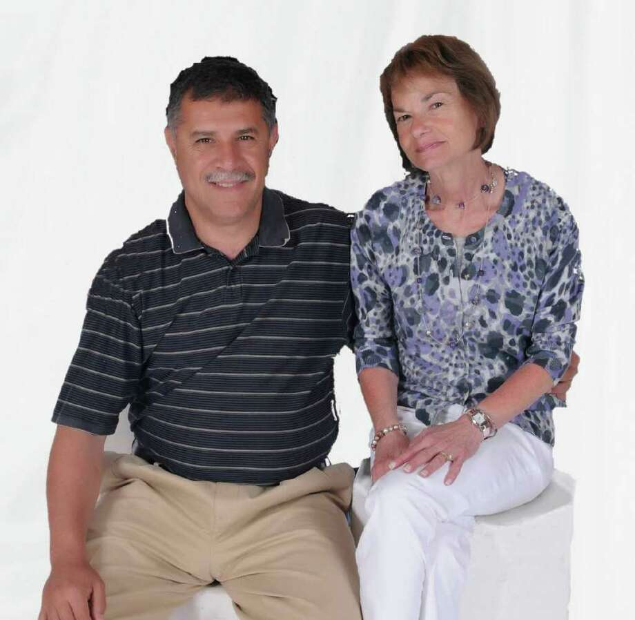 Badreddine and Pamela Ahtchi have lived in Newtown since 2004. They met in New Jersey when Pam overheard Badro speaking French, a language she loves. They married in London in 1986. Photo: Contributed Photo