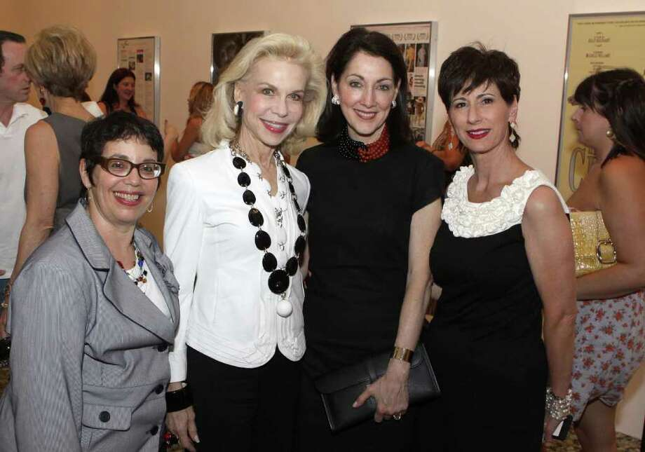 "(L to R)Marian Luntz, Lynn Wyatt, Susie Criner and Linda Kuykendahl after the presentation of ""Bill Cunningham New York"" at the Museum of Fine Arts in Houston on Friday, July 8, 2011. (Alan Warren, For the Chronicle) Photo: Alan Warren, Photographer / ©2011 Houston Chronicle"