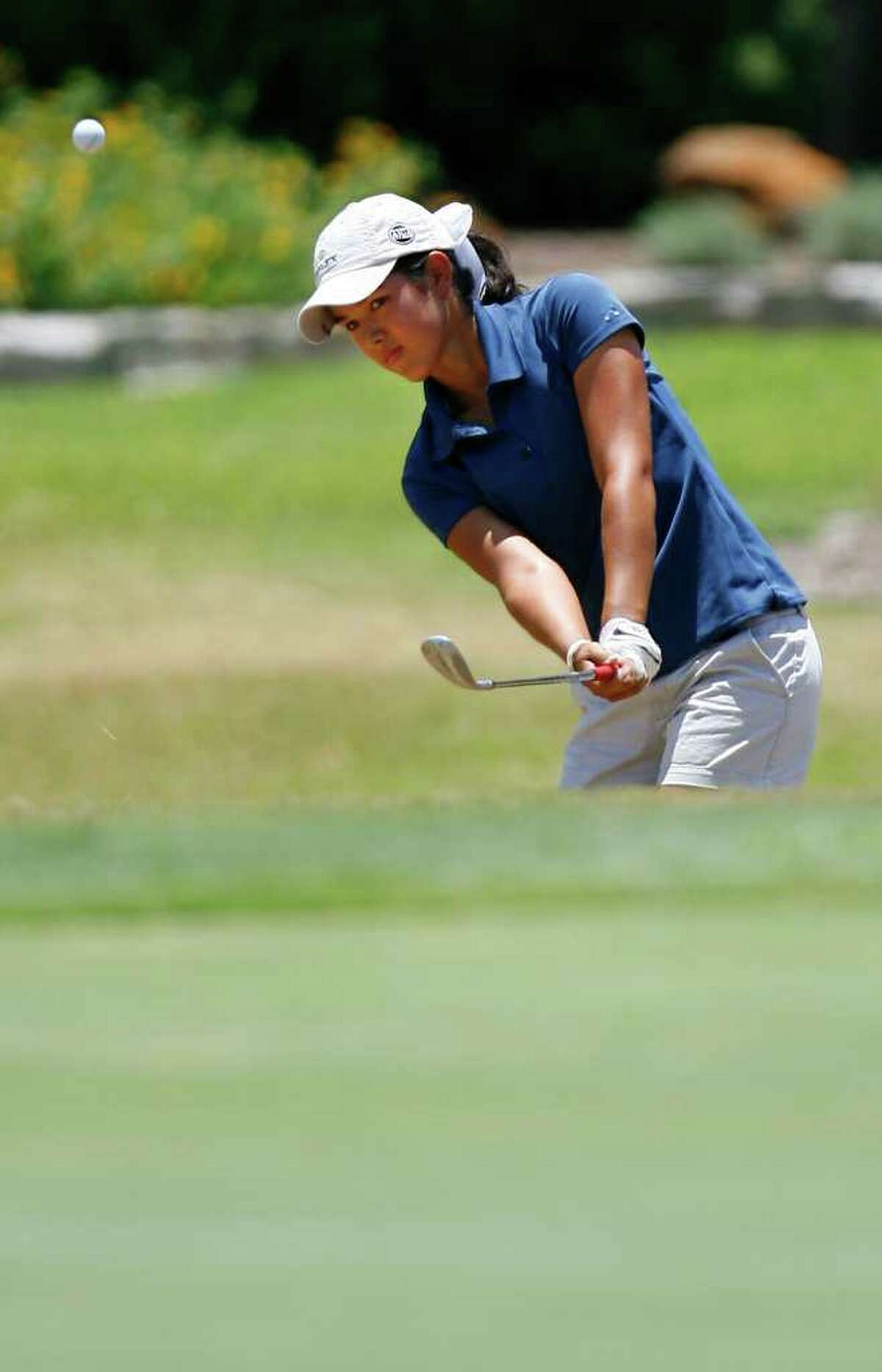 Kayli Quinton competes in the final round of the Genesis Shootout Thursday, July 24, 2011 at the Fair Oaks Ranch Country Club. Quinton of Houston won the girls division and Southlake's Matt Gilchrist took the boys division. SALLY FINNERAN/sfinneran@express-news.net