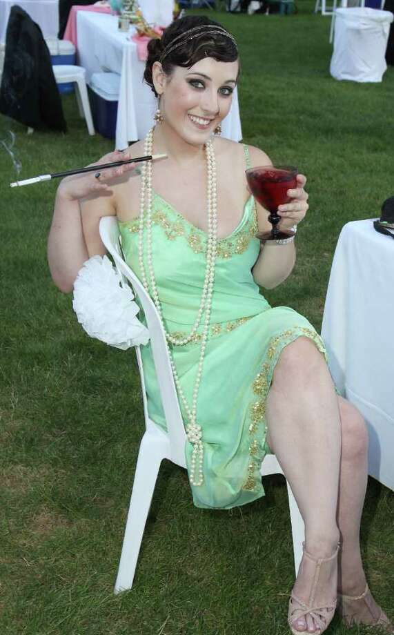 Saratoga Springs, NY - July 9, 2011 - (Photo by Joe Putrock/Special to the Times Union) - SPAC Junior Committee member Gwenn Patterson wore her best period attire to the SPAC Gala Lawn Party: A Gatsby Evening, hosted by SPAC's Junior Committee. Photo: Joe Putrock / Joe Putrock
