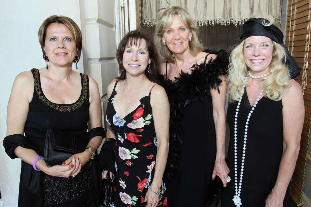 Saratoga Springs, NY - July 9, 2011 - (Photo by Joe Putrock/Special to the Times Union) - (l to r) Lydia Rollins, Jane Sanzen, Susan Stratton and Jaqueline Newell during the 2011 Ballet Gala: A Gatsby Evening, a fundraiser for New York City Ballet?'s engagement at SPAC.