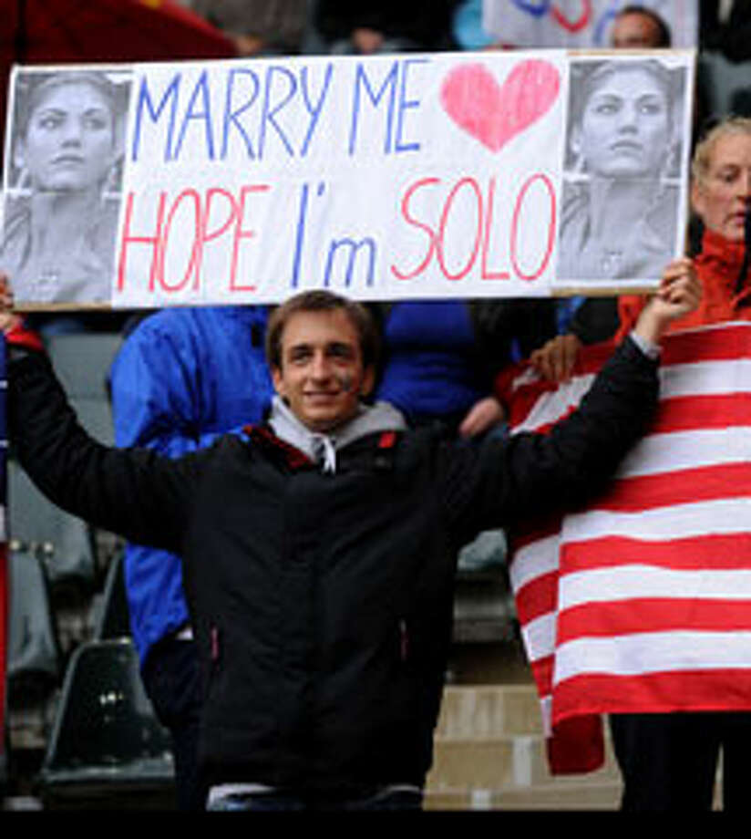 A few fans have more than a rooting interest in Hope Solo. (Getty Images)