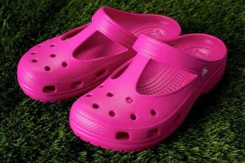 e6c815b3b Crocs Candace t-strap clogs have nubby footbeds good for your soles and  vents to