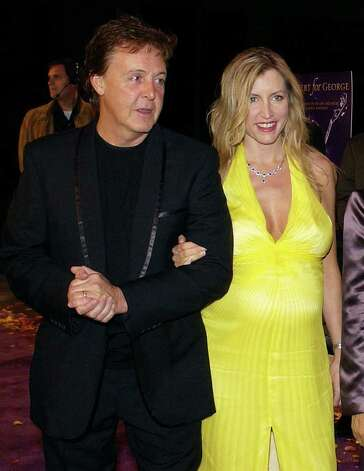 Who: Paul McCartney and Heather Mills. Married for: 4 years. (AP Photo/Mark J. Terrill) Photo: MARK J. TERRILL, STF / AP2003