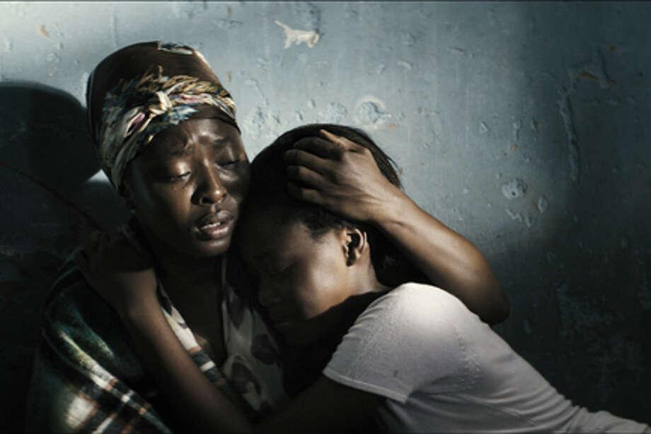 "(L-R) Lerato Mvelase as Lilian and Khomotso Manyaka as Chanda in ""Life, Above All."""