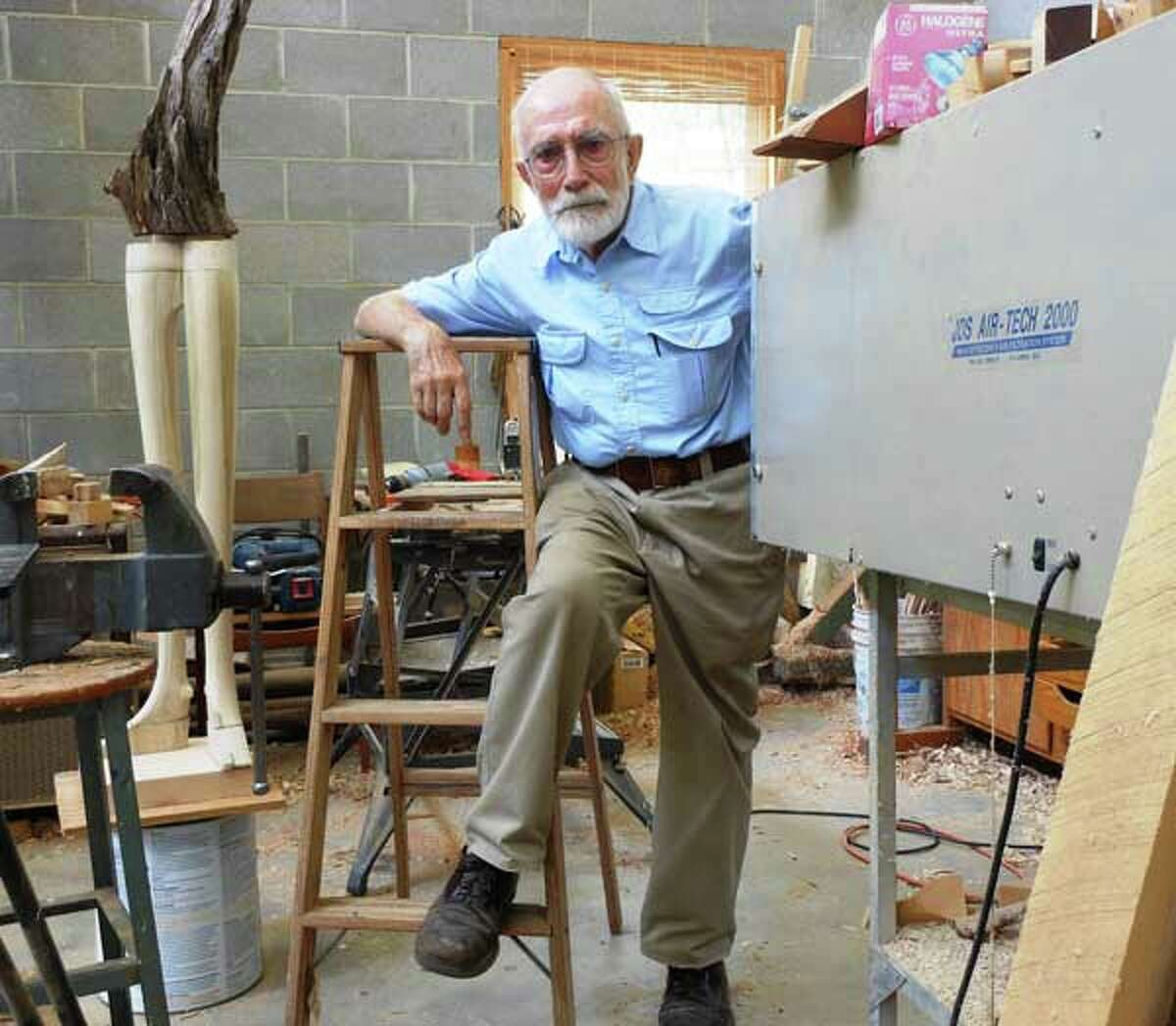 Sculptor Phil Evett in his Blanco studio.