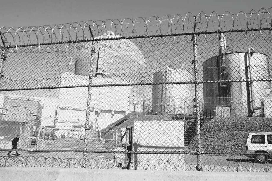 A media report says Indian Point, above, has the greatest risk for earthquake damage of any of the nation?s 104 nuclear power plants.  (AP Photo/Julie Jacobson, File) Photo: Julie Jacobson / AP