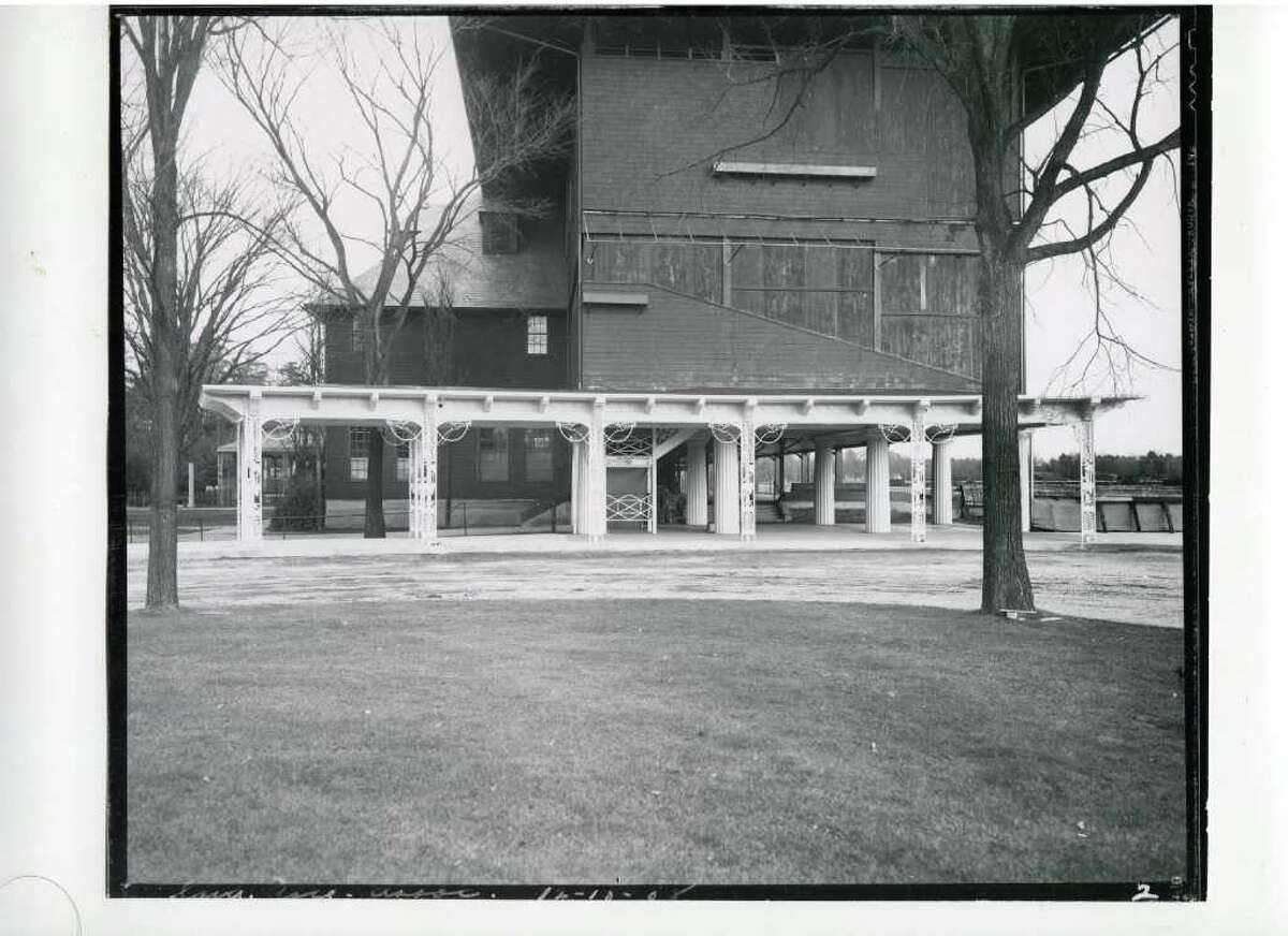 Saratoga Race Course, all closed up and ready for winter on Dec. 13, 1938. (Courtesy of Saratoga Springs Historical Museum, George S. Bolster collection)