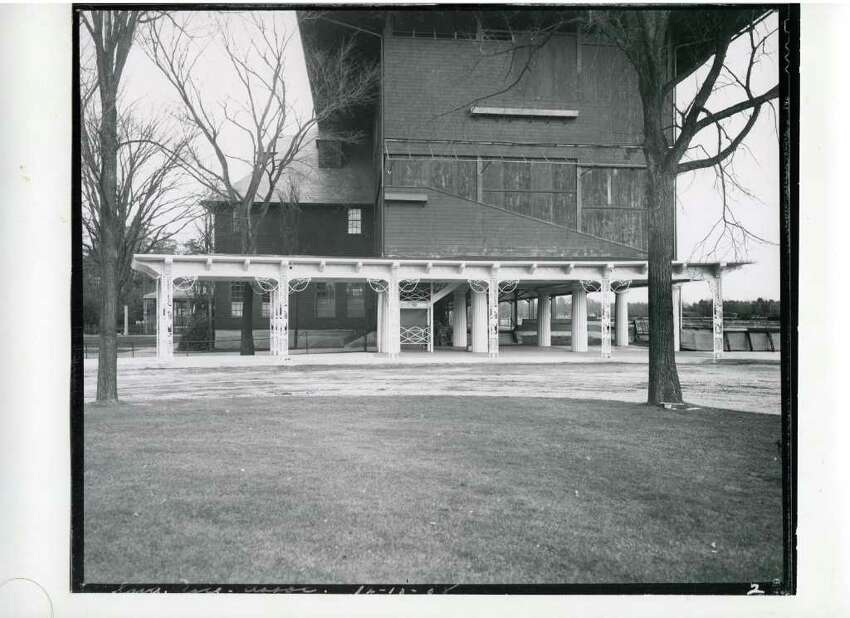 Keep clicking for historical photos of Saratoga Race Course through the years. Saratoga Race Course, all closed up and ready for winter on Dec. 13, 1938. (Courtesy of Saratoga Springs Historical Museum, George S. Bolster collection)