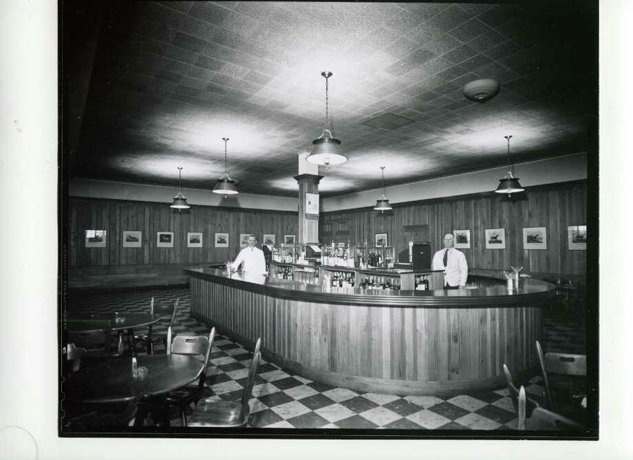 This looks like the Jim Dandy Bar on the first floor of the clubhouse. Not sure what it was called on Aug. 28, 1940. (Courtesy of Saratoga Springs Historical Museum, George S. Bolster collection)