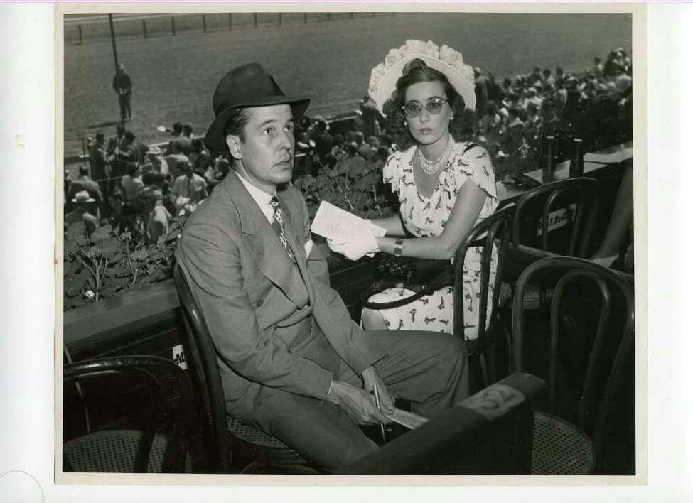 Mr. and Mrs. Alfred G. Vanderbilt sitting in their box seat the track in 1946. Vanderbilt, a driving force behind racing in America for most of the 20th century, has a current Spa race -- the A.G. Vanderbilt -- named for him. (Courtesy of Saratoga Springs Historical Museum, George S. Bolster collection)