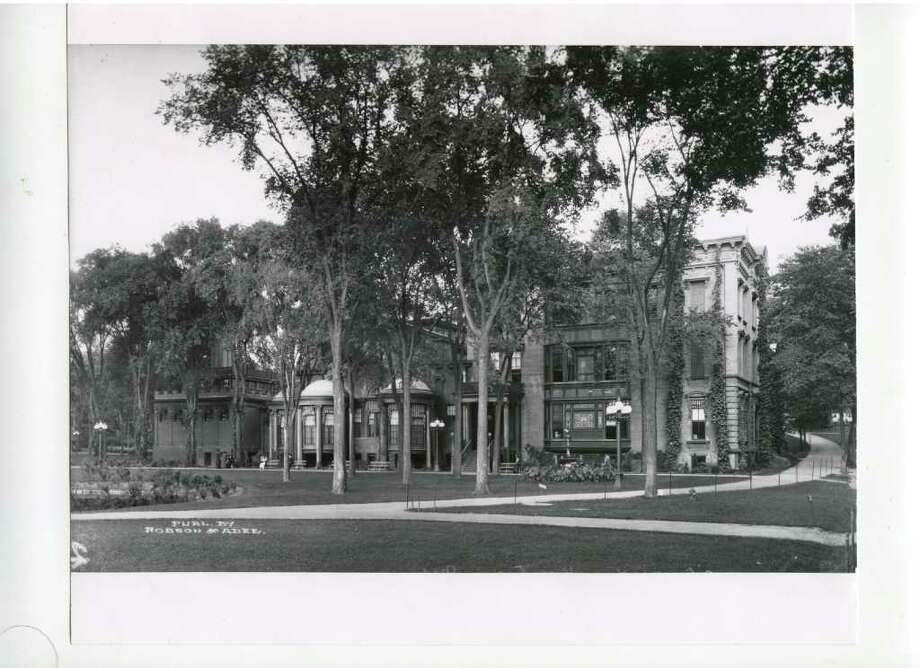 Canfield Casino, actual date unknown. Depending on who you talk to, the Casino, which is now part museum, is haunted.  (Courtesy of Saratoga Springs Historical Museum, George S. Bolster collection)