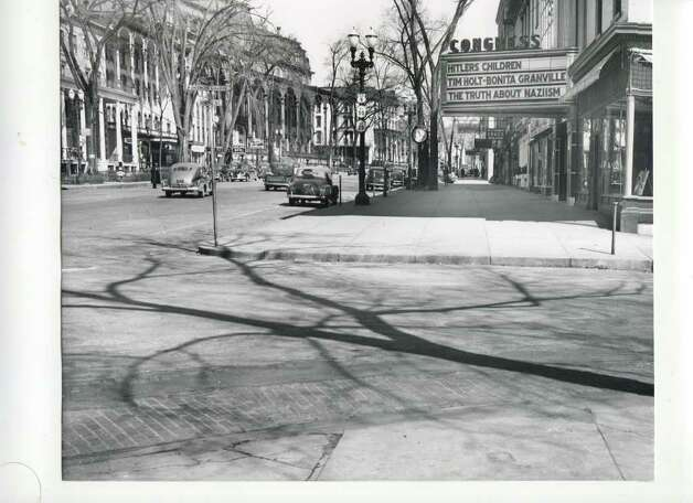 This was during World War II, and, on April 2, 1943, check out what was playing at the Congress Theater. (Courtesy of Saratoga Springs Historical Museum, George S. Bolster collection)