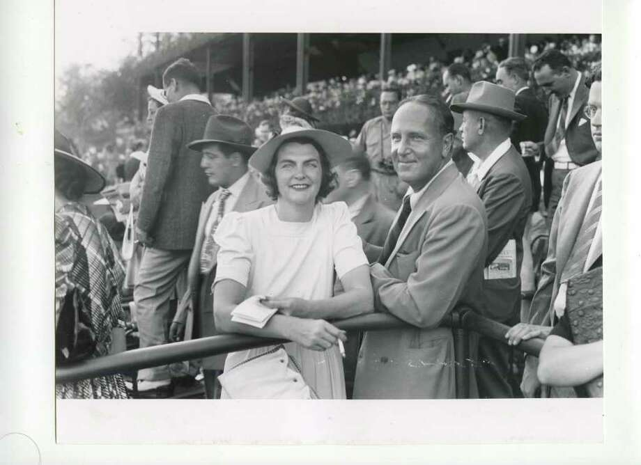 Hope Lauder enjoys a day at the races on Aug. 3, 1940. (Courtesy of Saratoga Springs Historical Museum, George S. Bolster collection)