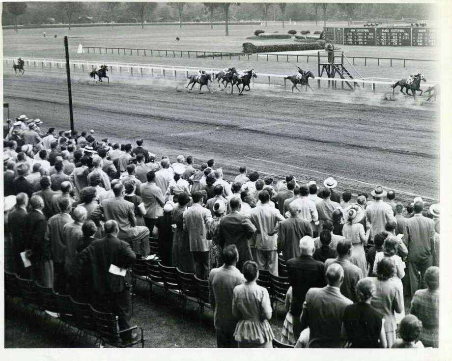 ... And they're off at Saratoga! Opening day on Aug. 3, 1950. (Times Union Archives)