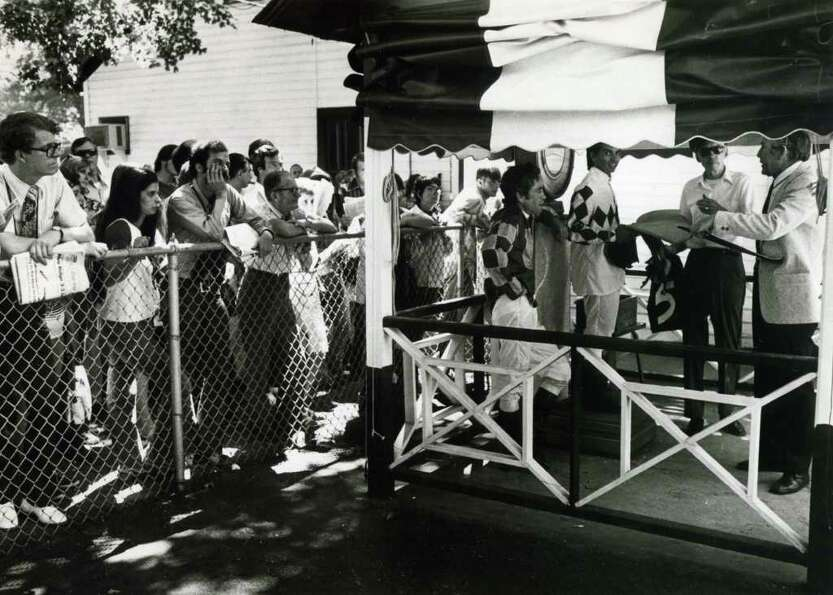 People always liked to watch the jockeys weigh in before the races. And, back in the day, they could