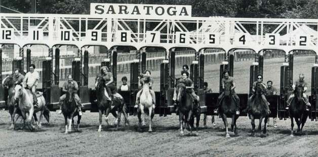 Yes, they actually used to have a media race at the annual Open House at the Spa. Bad idea. Real thoroughbreds that could really run. It's amazing no one got killed. This photo was taken sometime in the 1980s. (Times Union Archives)