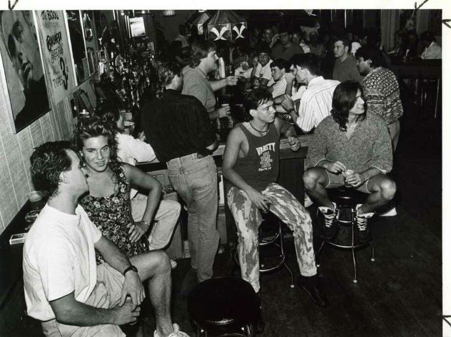 The crowd at the Bijou Night Club in the Spa City on an August night in the early 1990s. (Times Union Archives)