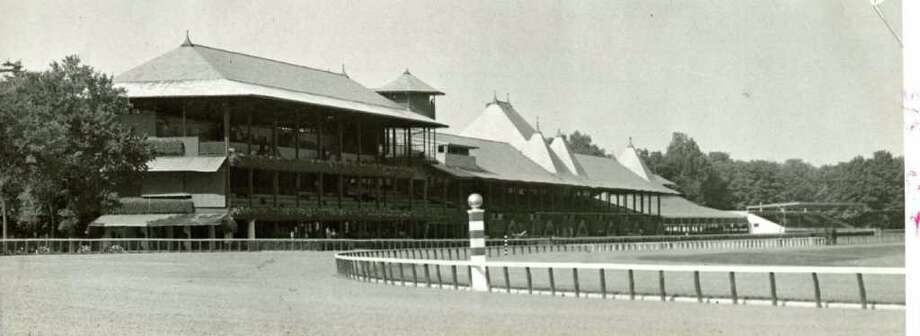 Here's a shot of Saratoga Race Course on July 24, 1937. There are a few things different now, like the section of stands up the track that are no longer there. (Times Union Archives)