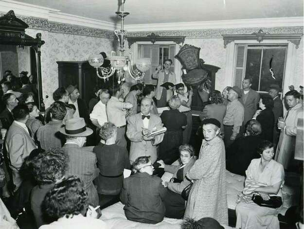 An auction at the Grand Union Hotel, Saratoga Springs, NY circa 1952. (Times Union Archives)