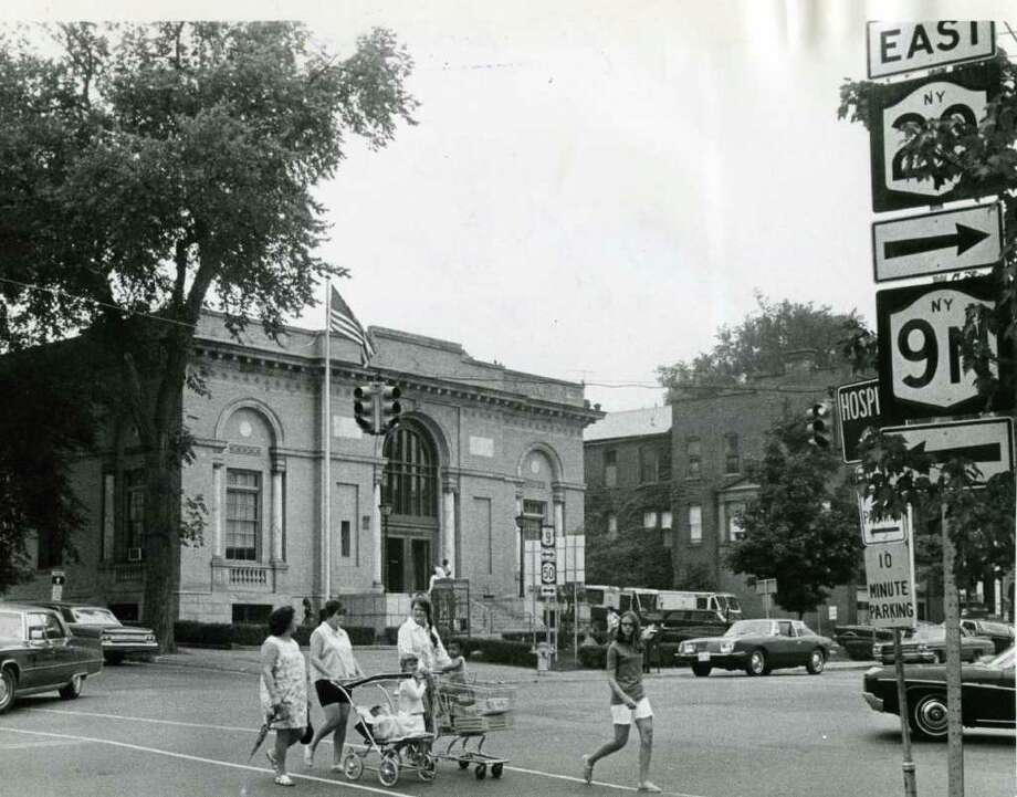 The post office at the corner of Broadway and Church Street in September, 1971. (Times Union/Roberta Smith) (Times Union Archives)