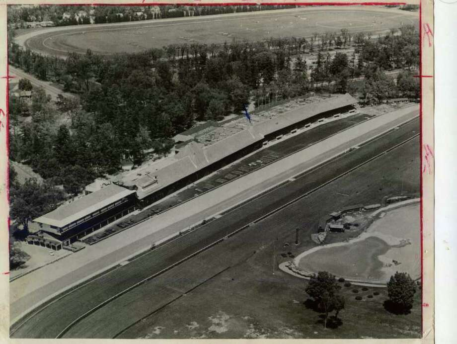 Here is another aerial view of Saratoga Race Course, this one from July 2, 1965. The meet had not yet started that year.  (Times Union Archives)