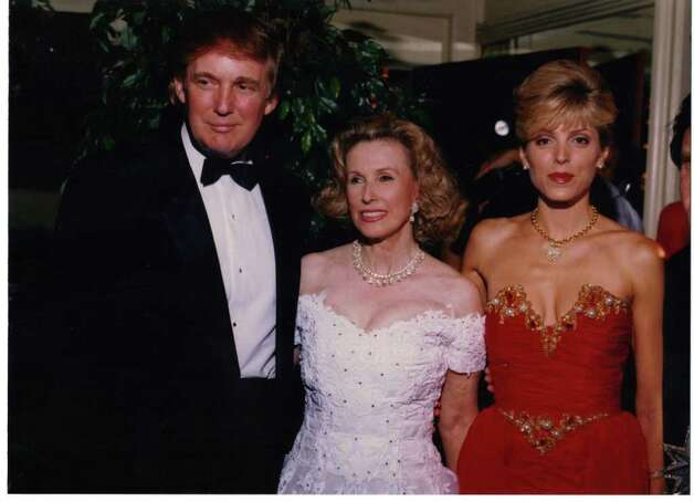Marylou Whitney, center, with Donald and Marla Trump. (Courtesy Marylou Whitney)