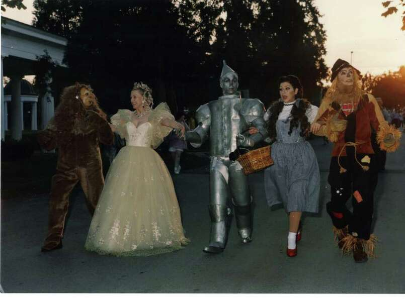 Marylou Whitney arrives to the Wizard of Oz. (Courtesy Marylou Whitney)