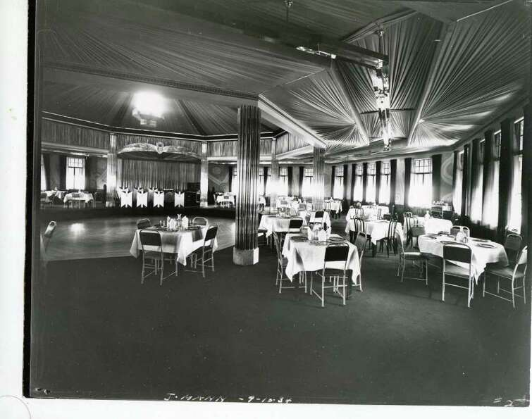The stage and dance floor at Riley's Lake House in 1934. (Courtesy of Saratoga Springs Historical Mu