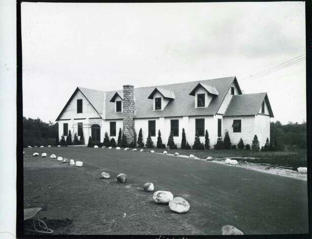 An exterior shot of the Mayfair Hotel/Club, latter called the Meadowbrook Club on May 27, 1936. (Courtesy of Saratoga Springs Historical Museum, George S. Bolster collection)