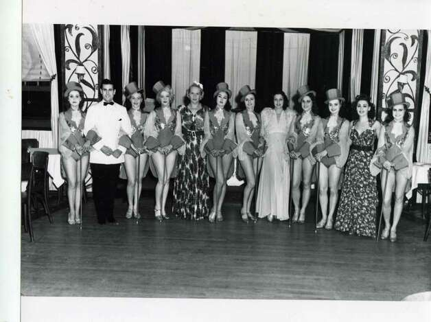 Some guys get all the girls. A shot of the dancers at the Meadowbrook Club on Aug. 13, 1938. (Courtesy of Saratoga Springs Historical Museum, George S. Bolster collection)