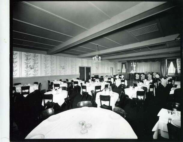 Here is the dining area of the Meadowbrook Club on Nov. 1, 1938. (Courtesy of Saratoga Springs Historical Museum, George S. Bolster collection)