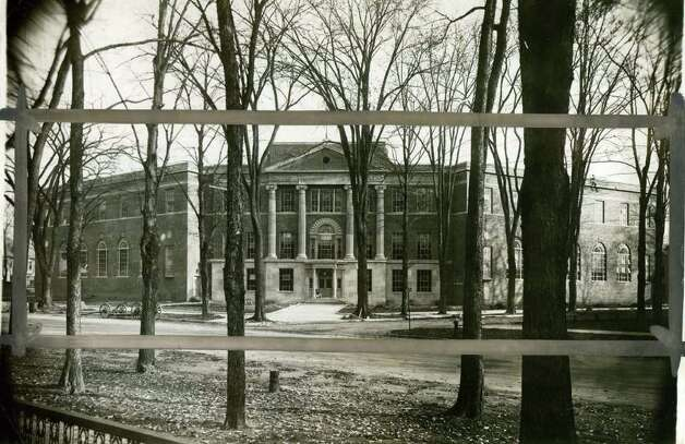 Saratoga Springs High School  on Feb. 8, 1936. (Times Union Archives)