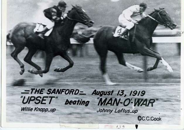 Upset beats the great Man o'War on Aug. 13, 1919 -- one of the greatest shockers of all-time in racing. (Times Union Archives)