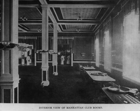 PHOTO COURTESY OF THE GEORGE S. BOLSTER COLLECTION OF THE HISTORICAL SOCIETY OF SARATOGA SPRINGS--AN INTERIOR VIEW OF THE MANHATTAN CLUB, ON SPRING STREET, CURRENT SITE OF O'DWYER'S BAR. Photo: SEE CAPTION FOR CREDIT / SEE CAPTION FOR CREDIT