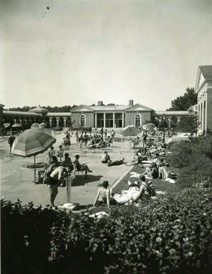 Saratoga Spa State Park recreation center in Saratoga Springs, NY circa 1940. (Times Union Archives)