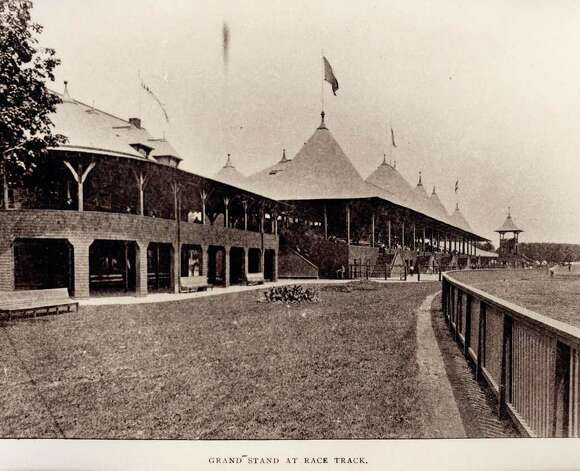 Saratoga Race Course Grand Stand at Race Track circa 1895 (Courtesy Saratoga Springs History Museum)