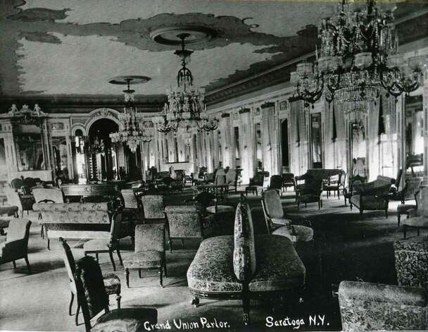 The parlor of the Grand Union Hotel, Saratoga Springs, NY circa 1895. (Times Union Archives)