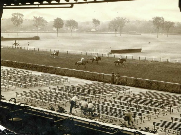 Saratoga Race Course on July 31, 1854. Courtesy Saratoga Springs History Museum
