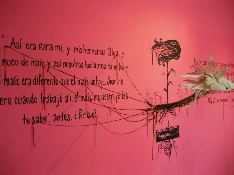 "A detail from Genevieve Rodriguez's installation ""habia una vez ..."" at the Esperanza. Photo: Courtesy Photo"